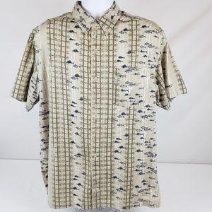 Columbia PFG Men's LG Vented Button Up Camp Shirt